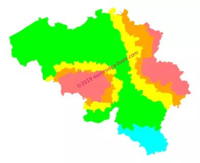 Carte zonage sismique Belgique