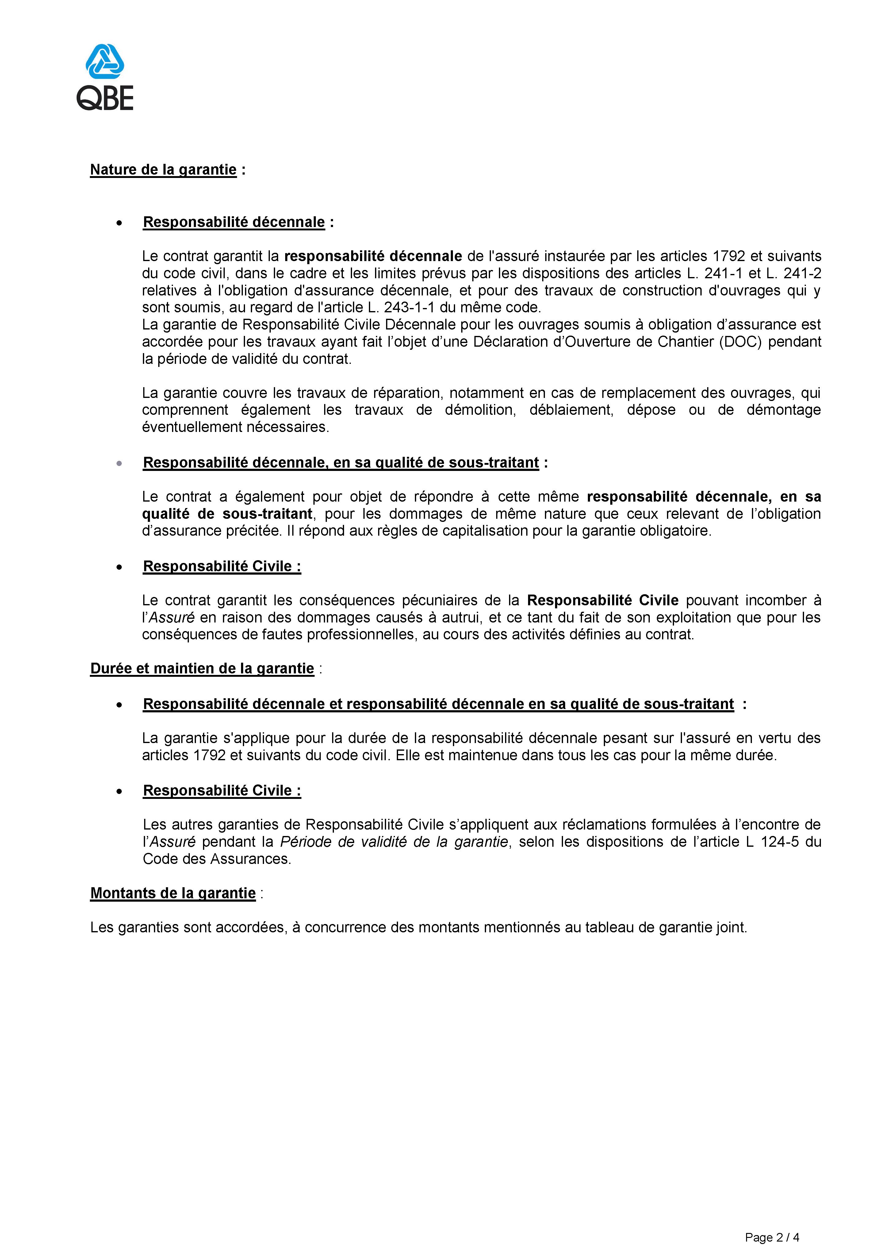Assurance décennale 2/4