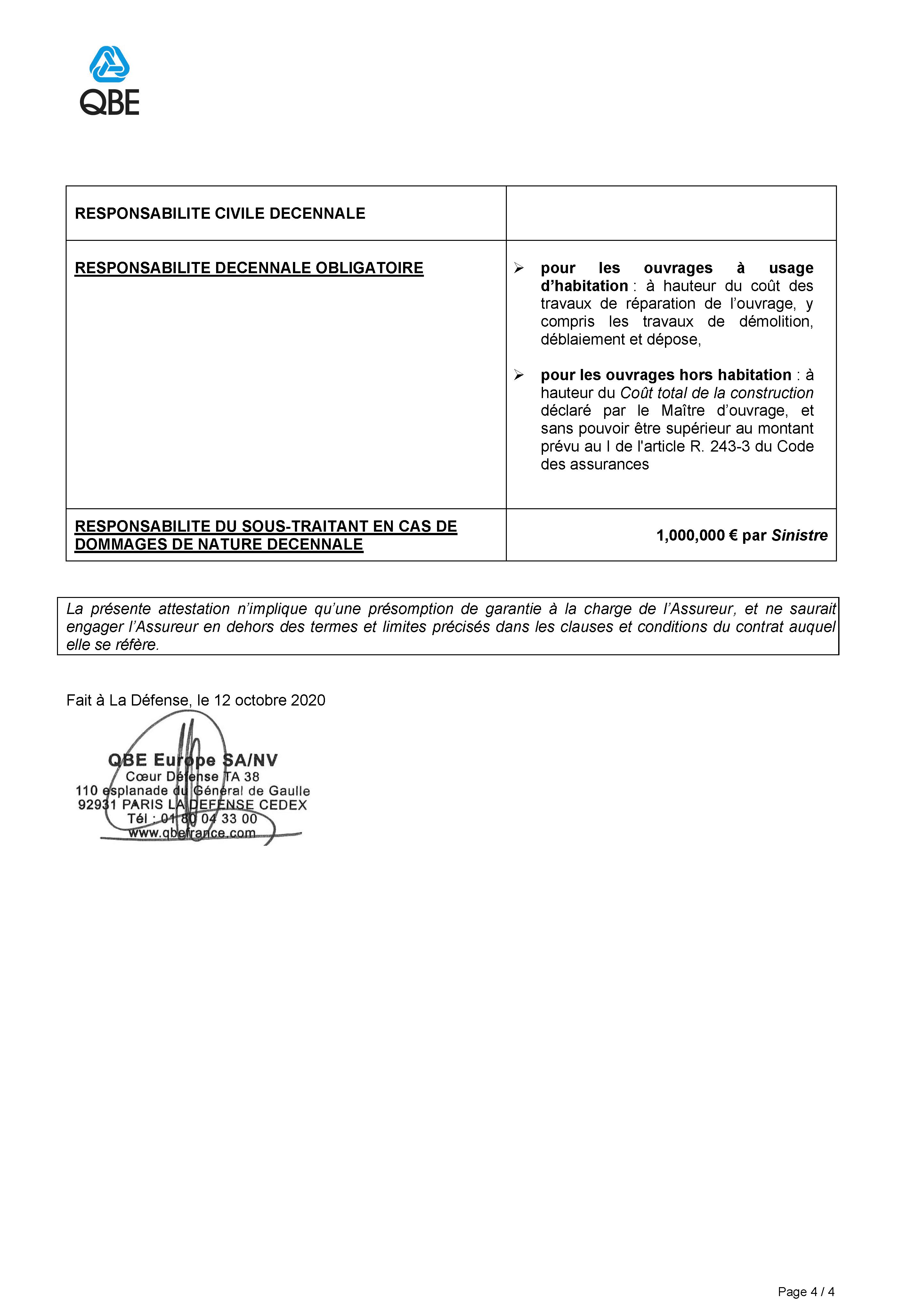 Assurance décennale 4/4
