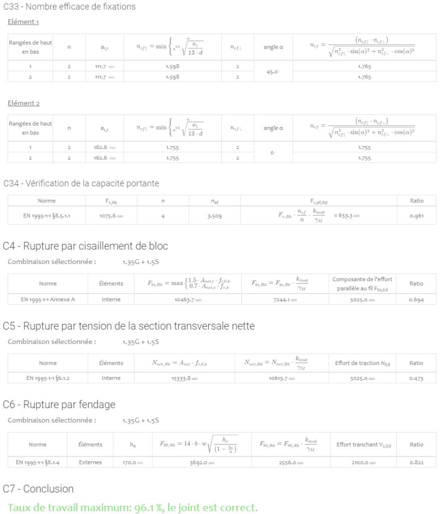 Timber Connections résultats 2
